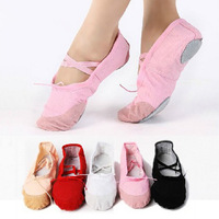 Womens Comfortable Canvas Soft Ballet Dance Shoes Suitable For Kids Girl Teenage  Women Free Shipping 1pair/lot