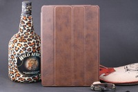 Brown NEW LEATHER CASE SMART FUNCTION STAND COVER FOR IPAD AIR IPAD 5