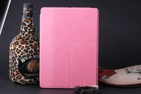 LIGHT PINK FLIP LEATHER CASE SMART FUNCTION STAND COVER FOR IPAD AIR for IPAD 5 FREE SHIPPING