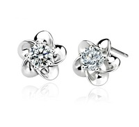 1 pair  dropshipping 100% pure 925  genuine 925 sterling silver earrings factory wholesale price GNE0035