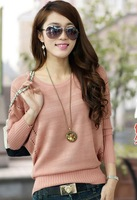 Cutout sweater female 2013 women's autumn pullover sweater outerwear loose batwing shirt