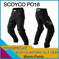Freeshipping,Scoyco PO18,motorcycle pants,warm inner,waterproof windproof,racing sports gear,protection accessories,XXL,men