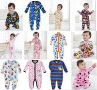 Newborn romper Baby Rompers Fleece Foot Cover babywear Baby Sleepwear W153