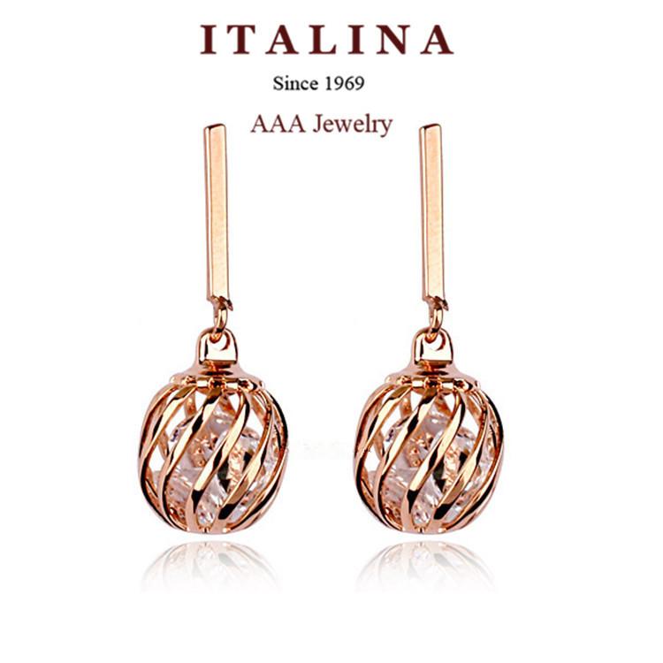 Серьги-гвоздики ITALINA 2015 86730 серьги гвоздики brand new 2015 sd10035