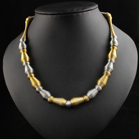 18K gold plated necklace for women  New design Lady necklace 18inch stainless steel necklace
