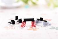 1000pairs/lot anti dust plug cap  ishoe phone stand,cute mobile phone stand For iphone 4 4s 5 Samsung,3.5mm anti dust plug