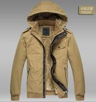 2014 winter new detachable cap plus thick velvet men's business casual men's winter jacket warm warm coat jacket M-XXXL