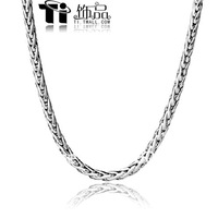 Stainless Steel Twisted Chain Necklace Fashion Cable Rope Necklace Titanium Steel Cable Chain Pendant Necklace XL009