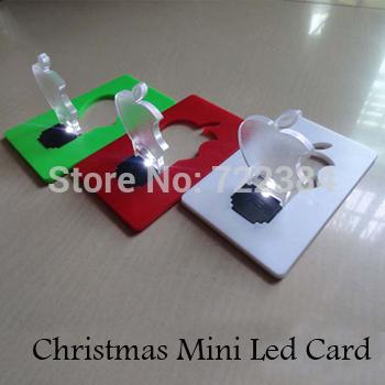 Free Shipping Mixed Color Mini Led Card Lamp/Novelty Lighting/mini procket card apple card 5pcs/lot(China (Mainland))