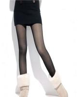 Winter step on the foot thick leggings plus velvet and silk thermal ankle length legging