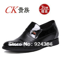 2014 new, men, 100%   Corium, leisure, business, career, invisible elevator shoes, men leather shoes, free shipping