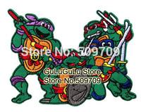 50pcs Teenage Mutant Ninja Turtles Embroidered Cloth Patch Sticker, Children's Cartoon Patch, DIY Cloth Accessories Wholesale