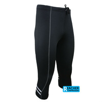 2014 mens 3/4 compression tights tight base layer skins running run Fitness Excercise cycling Clothing