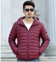 free shipping winter jacket down for men plus size 80% duck down winter jackets men hood S-3XL