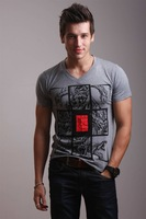 2014 men's fine printed cotton T-shirt