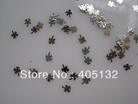 MS-234-1 Free Shipping Metal Silver Nail Art Metal Sticker Nail Art Decoration Fancy Outlooking