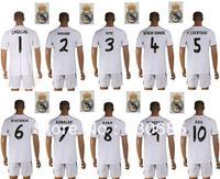 real madrid home white casillas varane pepe sergio ramos F coentrao khedira ronaldo kaka benzema ozil  soccer uniforms