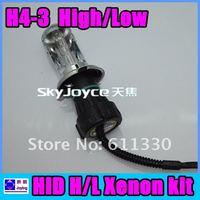 35W HID Xenon Bulb H4 Hi/Lo 4300K 6000k 8000k 10000k 12000k  Free Shipping ID1108