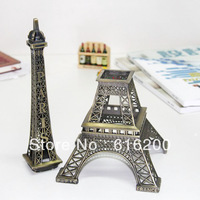 38cm Retro Bronze Paris Eiffel Tower Colorful Metallic Model Home Decorations Christmas Gift Photography Props