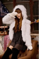 girl's lady's women's spring autumn winter  fluff Faux Furcoat sweater outwear
