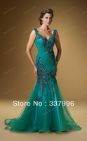 Hot Sell ! Sheath Mother of the Bride Dresses,Evening Dress Fashion 2012 with Embroidery on Bodice