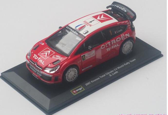 Citroen c4 alloy car model artificial toys rs wrc tension automobile race fox(China (Mainland))