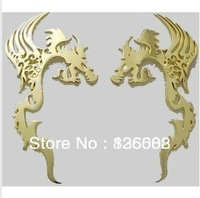 Free shipping Ssangyong totem 3D stereo car stickers metal car stickers car stickers decorative modification