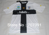 2013-14 New High Thailand Quality FC Parma Lucarelli Parolo Home White Football Soccer Jerseys Uniforms Shirts Embroidered Logo