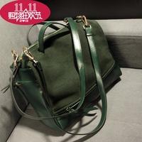 2015 Korean Style Women's PU leather Handbag Fashion Vintage Nubuck Leather Bag Women Messenger Bags Big bags