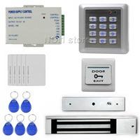 DIY Waterproof RFID Keypad Access Control Security System Full Kit Set + 280KG Waterproof Magnetic Lock  For House / Office