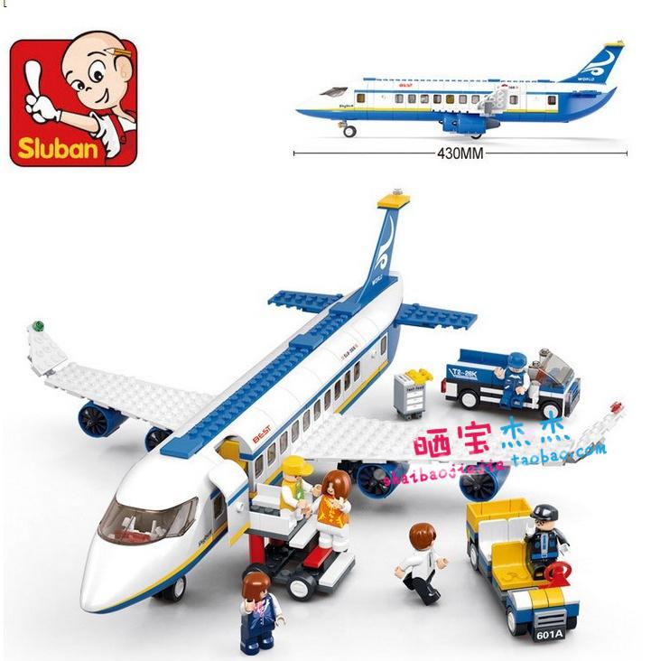 Sluban M38-B0366 483pcs 3D construction eductional Bricks Building Blocks Sets aviation series Airbus aircraft children toys(China (Mainland))