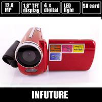 "FREESHIPPING ! Winait DV139 video digital camera Max.12MP 1.8"" TFT LCD LED Flash Light camcorder 4 Colors"