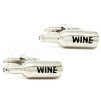 Classic wine bottle modeling silver cufflinks AP0970 - guaranteed high quality