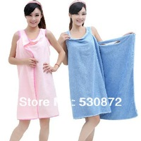 Free shipping ,85x155cm magic towel, bamboo fiber bath towel , bathrobe,wearable bath towel ,soft and clean ,women bathrobe