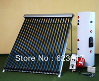 Free shipping by SEA / 250L saparately pressure solar water heater /2 cooper coils with 30 tubes solar collector.