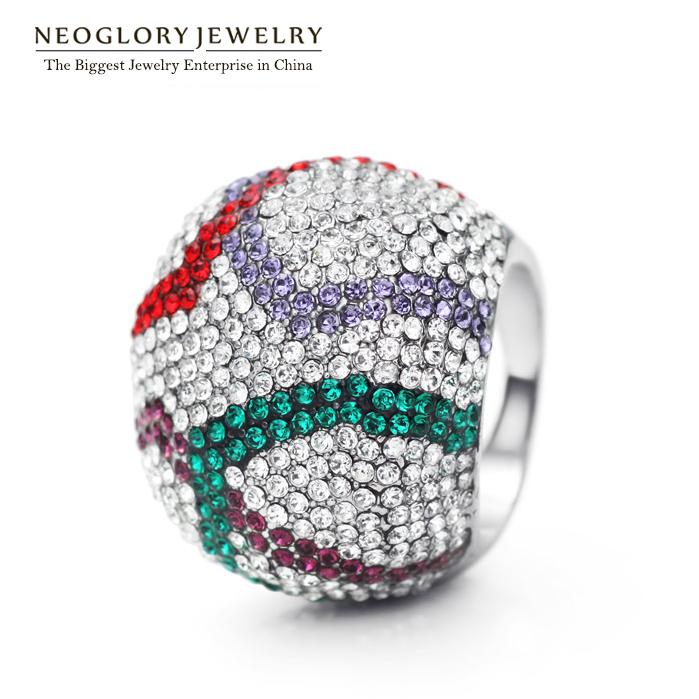 Кольцо Neoglory SWAROVSKI Rhinstone 2015 бижутерия neoglory 014