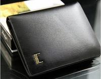 All sale! Black high-end men's wallet, the length of the two supply options ST80805