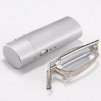 Improved Handy Mini Flip Top Eyeglasses Case & Lightweight Folding Reading Glasses +1.50