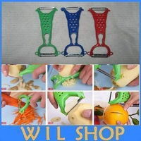Hot Colors Vegetable Fruit Peeler Parer Julienne Cutter Slicer Kitchen Easy Tools Gadgets Helper