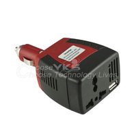 1pcs DC 12V input voltage and AC 220V output 150W car power inverter with USB port YKS