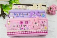 New Cute animal pencil bag kawaii rabbit pencil case  girls pen bag China pen case lacy pen bag student gift stationery bag case