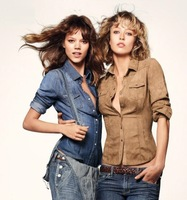 Europa Moda 2013 Primavera Solid Color Camisa Jeans Femininas Blouses Blusas Women's Fashion Denim Shirts Plus Size