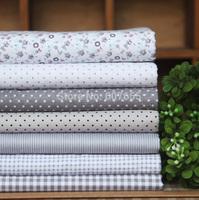 Elegant Grey 7pcs 100% Cotton Fabric 20 *30cm DIY Handmade Patchwork Fabric Cloth Flowers Home Decoration Free Shipping