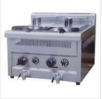 PK-JG-GF72A Gas Temperture-controlled Fryer, 2-Tank, 2-Basket, for Commercial Kitchen