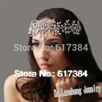 BRIDAL WEDDING FOREHEAD RHINESTONE CRYSTAL TIARA HAIR HEADBAND HEADPIECE