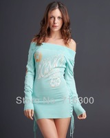 Free Shipping 2013 new arrival SF Sweaters for wonen,SF brand fashion winter slim sexy sweater,Wholesale women' sky blue Sweater