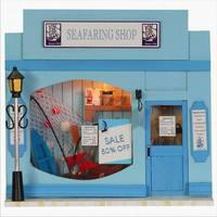 Dollhouse Miniature DIY Kit w/ Light Seafaring Shop NIB