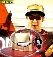 2013 New Running Man Same Model Hat  Iron Man Hip-Hop Caps Red And Purple For Choose