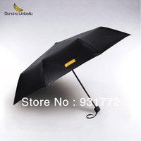 Free Shipping+Tracking Number Banana genuine black umbrella triple folding umbrella pencil golf umbrella UV