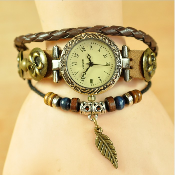 New christmas women watch with butterfly men fashion brand watches ladies party vintage wristwatch, W1555(China (Mainland))